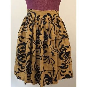 Sariah Calligraphy Strokes Skirt Anthropologie